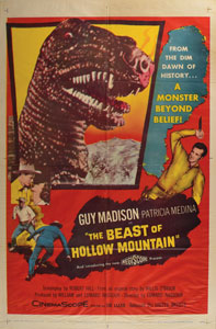 The Beast of Hollow Mountain One Sheet Movie Poster