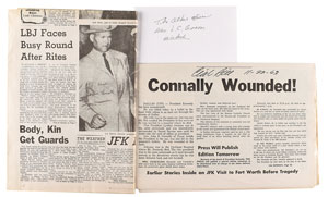 Kennedy Assassination: Clint Hill and James Leavelle