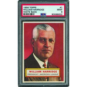 1956 Topps #1 William Harridge - PSA MINT 9 - None Higher!