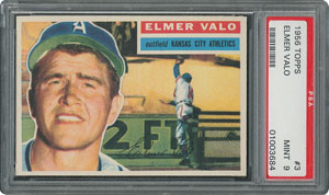1956 Topps #3 Elmer Valo - PSA MINT 9 - None Higher!