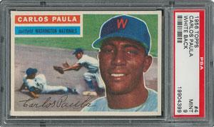 1956 Topps #4 Carlos Paula - PSA MINT 9 - None Higher!