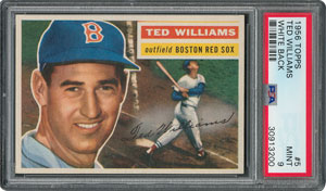 1956 Topps #5 Ted Williams - PSA MINT 9 - one Higher!