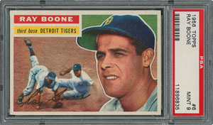 1956 Topps #6 Ray Boone - PSA MINT 9 - None Higher!