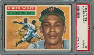 1956 Topps #9 Ruben Gomez - PSA MINT 9 - None Higher!