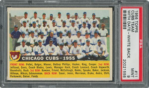 1956 Topps #11 Cubs Team (Dated) - PSA MINT 9 - None Higher!