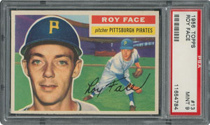 1956 Topps #13 Roy Face - PSA MINT 9 - two Higher!