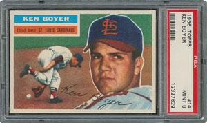 1956 Topps #14 Ken Boyer - PSA MINT 9 - one Higher!