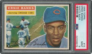 1956 Topps #15 Ernie Banks - PSA MINT 9 - None Higher!