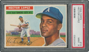 1956 Topps #16 Hector Lopez - PSA MINT 9 - one Higher!