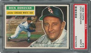 1956 Topps #18 Dick Donovan - PSA MINT 9 - None Higher!