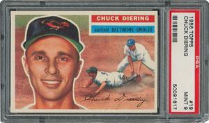 1956 Topps #19 Chuck Diering - PSA MINT 9 - one Higher!