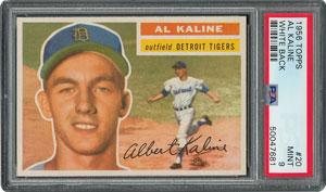 1956 Topps #20 Al Kaline - PSA MINT 9 - two Higher!