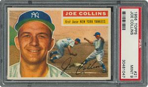 1956 Topps #21 Joe Collins - PSA MINT 9 - three Higher!