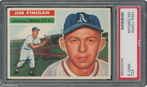 1956 Topps #22 Jim Finigan - PSA MINT 9 - None Higher!