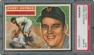 1956 Topps #28 Bobby Hofman - PSA MINT 9 - None Higher!