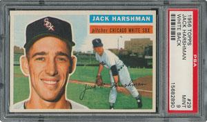 1956 Topps #29 Jack Harshman - PSA MINT 9 - three Higher!