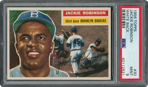 1956 Topps #30 Jackie Robinson - PSA MINT 9 - None Higher!