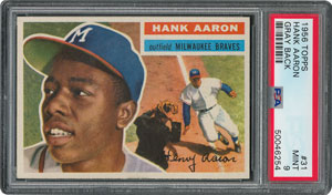 1956 Topps #31 Hank Aaron - PSA MINT 9 - None Higher!