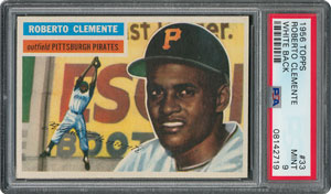 1956 Topps #33 Roberto Clemente - PSA MINT 9 - one Higher!