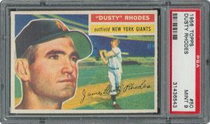 1956 Topps #50 Dusty Rhodes - PSA MINT 9 - one Higher!
