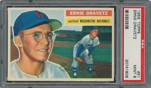 1956 Topps #51 Ernie Oravetz - PSA MINT 9 - None Higher!