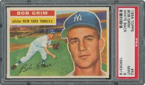 1956 Topps #52 Bob Grim - PSA MINT 9 - None Higher!