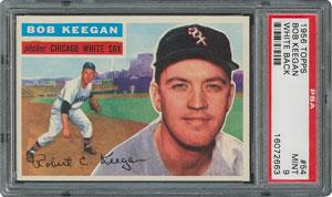 1956 Topps #54 Bob Keegan - PSA MINT 9 - one Higher!