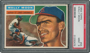 1956 Topps #55 Wally Moon - PSA MINT 9 - None Higher!