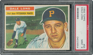 1956 Topps #56 Dale Long - PSA MINT 9 - one Higher!