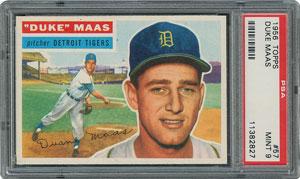 1956 Topps #57 Duke Maas - PSA MINT 9 - None Higher!
