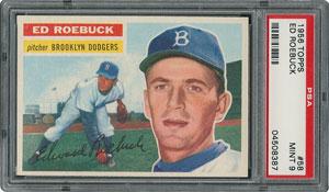 1956 Topps #58 Ed Roebuck - PSA MINT 9 - three Higher!