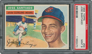 1956 Topps #59 Jose Santiago - PSA MINT 9 - one Higher!