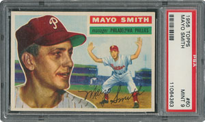 1956 Topps #60 Mayo Smith - PSA MINT 9 - None Higher!