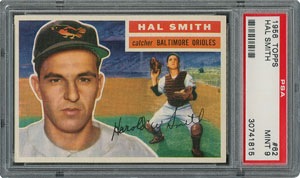 1956 Topps #62 Hal Smith - PSA MINT 9 - None Higher!