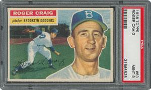 1956 Topps #63 Roger Craig - PSA MINT 9 - one Higher!