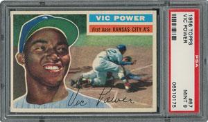 1956 Topps #67 Vic Power - PSA MINT 9 - three Higher!