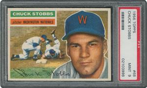 1956 Topps #68 Chuck Stobbs - PSA MINT 9 - one Higher!