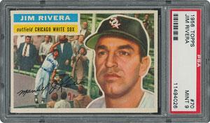 1956 Topps #70 Jim Rivera - PSA MINT 9 - None Higher!