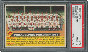 1956 Topps #72 Phillies Team (Dated) - PSA MINT 9 - None Higher!