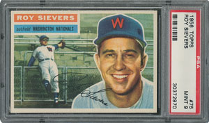 1956 Topps #75 Roy Sievers - PSA MINT 9 - three Higher!