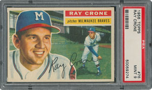 1956 Topps #76 Ray Crone - PSA MINT 9 - None Higher!