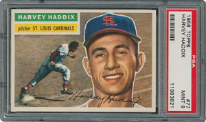 1956 Topps #77 Harvey Haddix - PSA MINT 9 - None Higher!