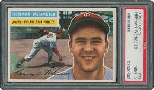 1956 Topps #78 Herman Wehmeier - PSA MINT 9 - None Higher!