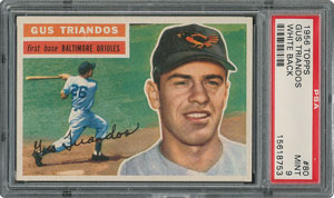 1956 Topps #80 Gus Triandos - PSA MINT 9 - one Higher!