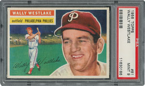 1956 Topps #81 Wally Westlake - PSA MINT 9 - None Higher!