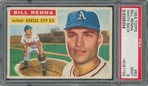 1956 Topps #82 Bill Renna - PSA MINT 9 - None Higher!