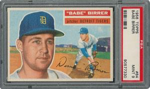 1956 Topps #84 Babe Birrer - PSA MINT 9 - three Higher!