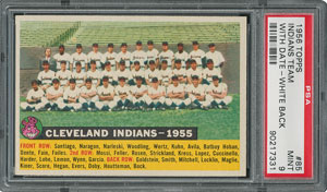 1956 Topps #85 Indians Team (Dated) - PSA MINT 9 - three Higher!
