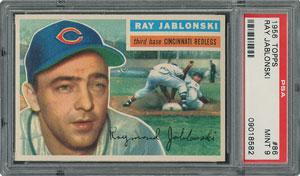 1956 Topps #86 Ray Jablonski - PSA MINT 9 - None Higher!