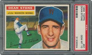 1956 Topps #87 Dean Stone - PSA GEM-MT 10 - Pop two, None Higher!